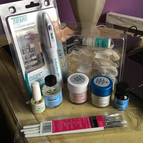 Acrylic nail kit All professional products, once used but all brand new CND Makeup