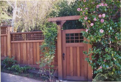 MacGregor Construction: Craftsman Gate and Fence.  Shhhh ... a sanctuary lays just beyond the garden gate.  Fragrant in spring, lush in summer and inviting above all.