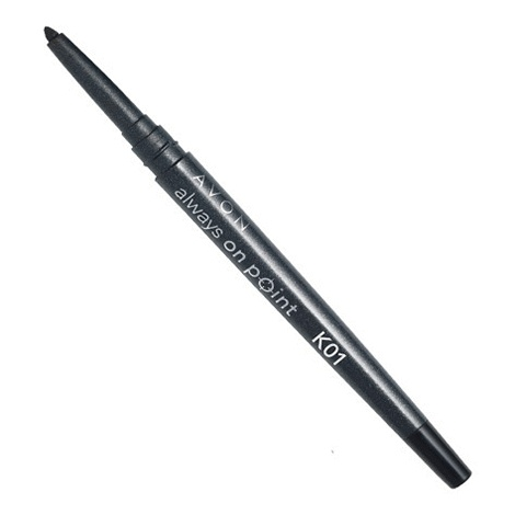 Always On Point Eye Liner ~~ reg.  $9.99 ~C12 SALE  $4.99;  Precise lines every time! Lets face it: no one really has the time to sharpen their liners and pencils before every use! This progressive and smart design does the sharpening for you! All you have to do is twist the cap and the built-in sharpener will do its job so you can get a perfect point and precise lines every time! Smudge- and waterproof! .31 g
