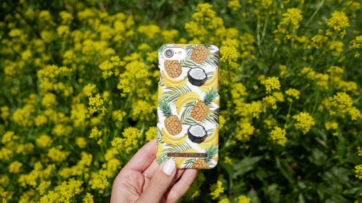 Banana Coconut by lovely @flarback - Fashion case phone cases iphone inspiration iDeal of Sweden #Tropcial #pineapple #palms #leaf #pina colada #yellow #fashion #inspo #iphone