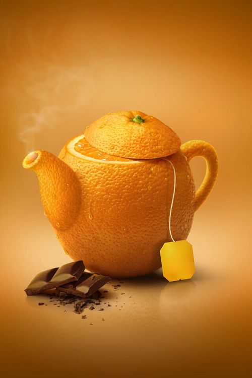 Orange tea time