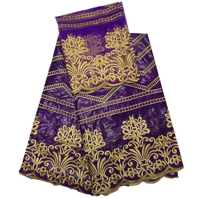 African lace fabric guinea bazin getzner Hot Sale in purple High Quality African Bazin lace Fabric  GUINEA FABRICS