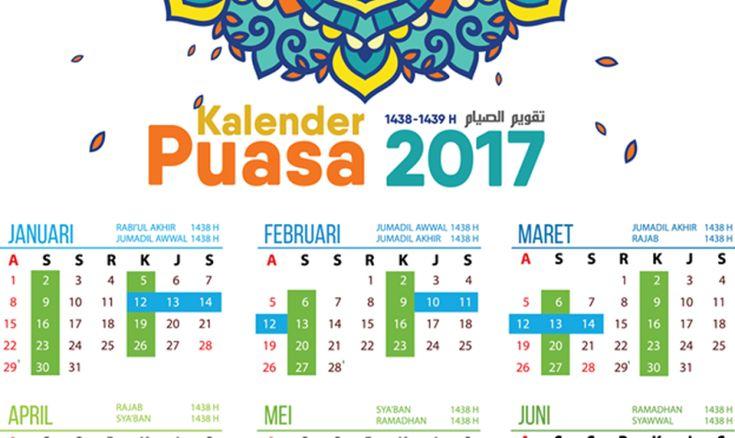 Assalamu'alaikum. Alhamdulillah, atas limpahan nikmat dan karunia dari Allah Ta'ala, setelah kalender puasa 2013, 2014, 2015, dan 2016 maka kali ini kami tampilkan, KALENDER PUASA 2017,…