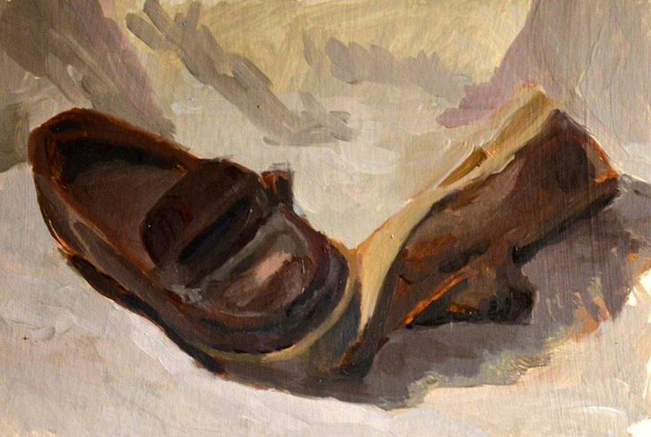 Boots art painting in oil by Victoria Duryagina. Boots  is very interesting object to paint. #art #painting #boots