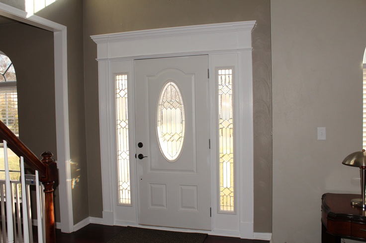 Inside Front Door Crown Molding Painted White And Door