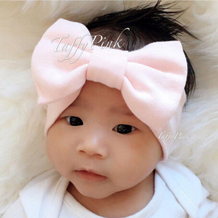 1PCS Girls Hair Bows  Baby Flower Headband Stretch Turban Bowknot Head Wrap Hair Bands Children Headwear Hair Accessories