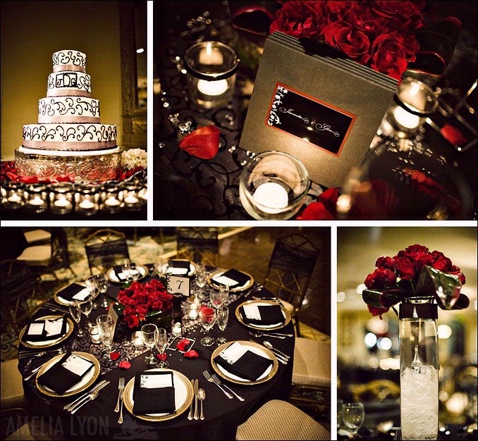 Bridal Style And Wedding Ideas: Cold Wedding With Snow Red Centerpieces  Ideas