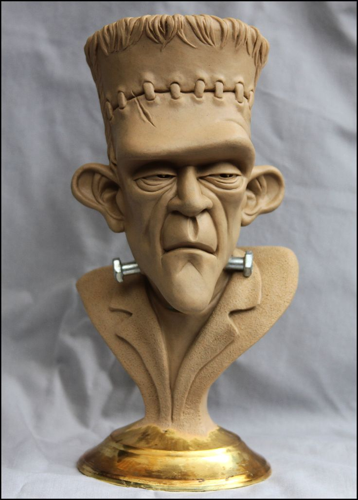 Frankenstein's Monster-bust final clay by RandyHand. ★ Find more at http://www.pinterest.com/competing/