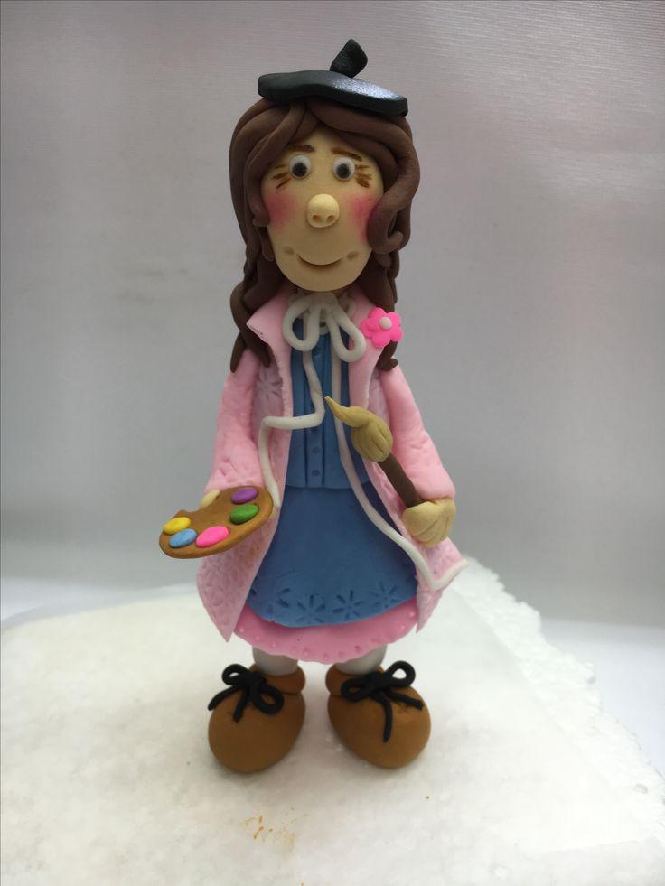 Painter figurine