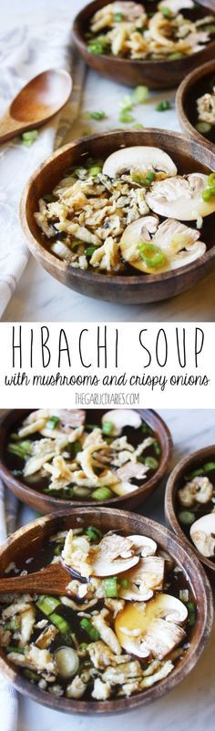 Hibachi Soup with Mushrooms and Crispy Onions - TheGarlicDiaries.com