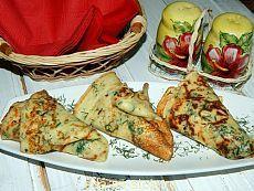Пикантные сырные блинчики с зеленью