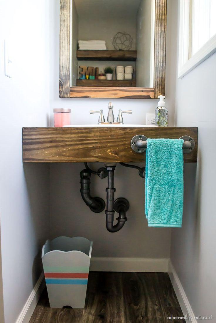 Diy floating wood vanity small bathroom vanities