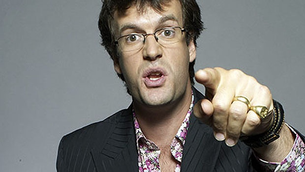 Marcus Brigstocke's performance in Soleimanpour's play ended with a moving interjection from his son