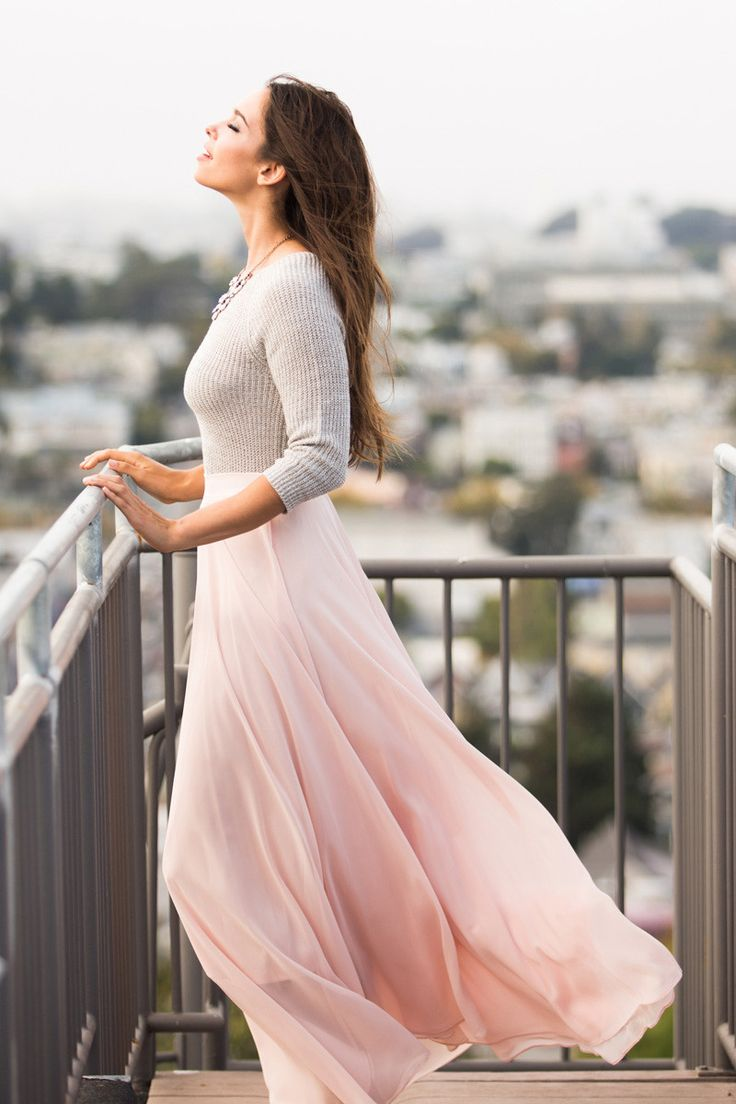 Amelia Full Pink Maxi Skirt by Lucy Paris