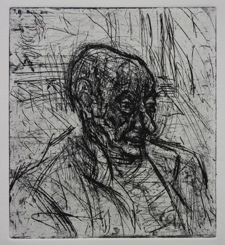 DAVID FAIRBAIRN  'J.B. No.1'   2011  copper etching, ed. of 10 A/P  33 x 30 cm