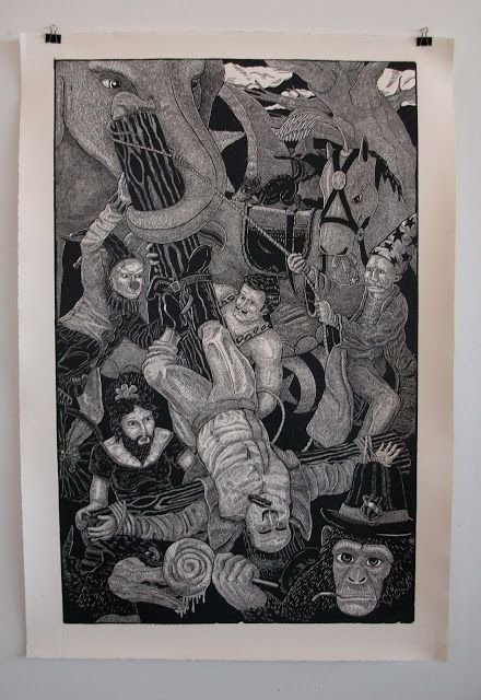 "Mike Pennekamp ""Greatest Show on Earth""  (2012) 3 of 5 3' x 5 """
