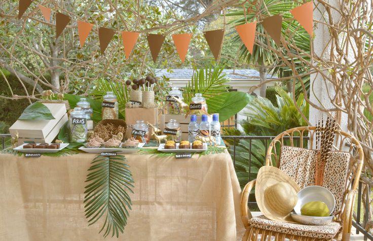 Mesa Dulce para cumpleaños infantil con temática Safari / Safari Candy Table for a kids birthday party