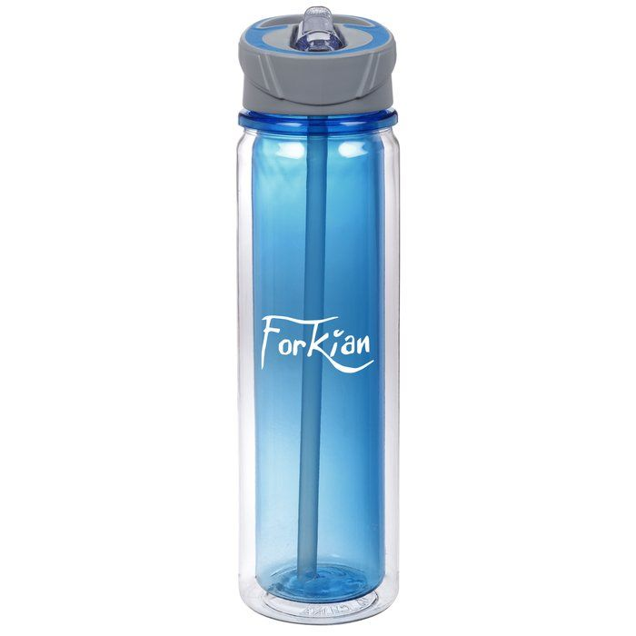 The drinks are on you this time with this promotional water bottle!