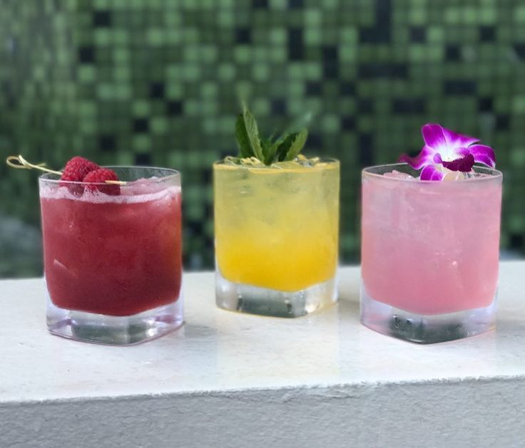 The Birchwood | St. Petersburg FL | Boutique Hotel Fine Dining Restaurant & Rooftop Lounge | We're kicking off @stpetepride with three handcrafted cocktails  Raspberry Beret  Prickly Pear Margarita and  Pride Punch!