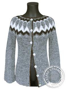 Handknit Icelandic wool cardigan. *drool*