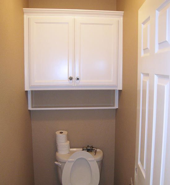 Nice Over Toilet Storage Cabinets That Equals Width Of Room