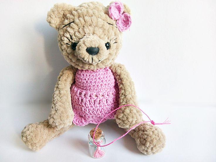 teddy bear, miś, szydełkowe misie, szydełkowe maskotki