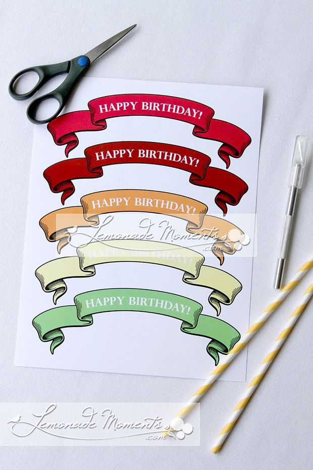 285 best images about cake toppers on pinterest bunting flags on cake birthday banner