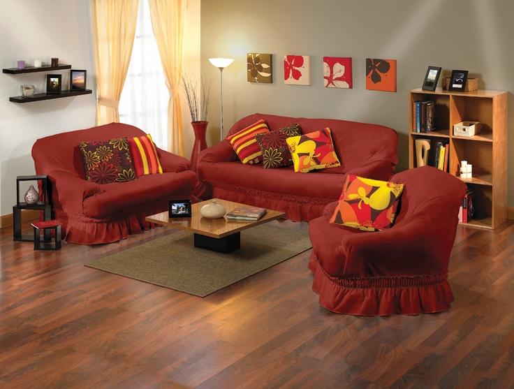 Resist de color vino b sicos y accesorios para el hogar - Decoracion de sofas con cojines ...