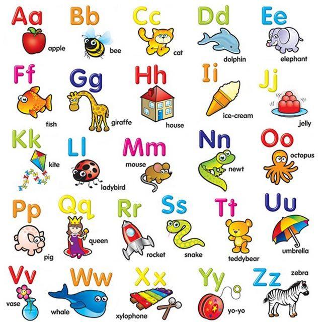 почти английский алфавит в красочных картинках производство получают