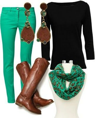 Sassy outfit with green pants