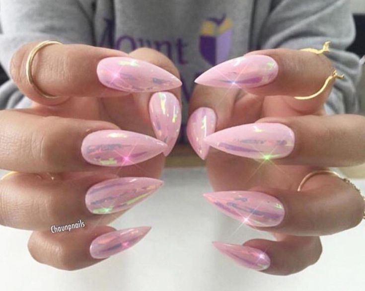 Pink Stiletto Nails January 2017
