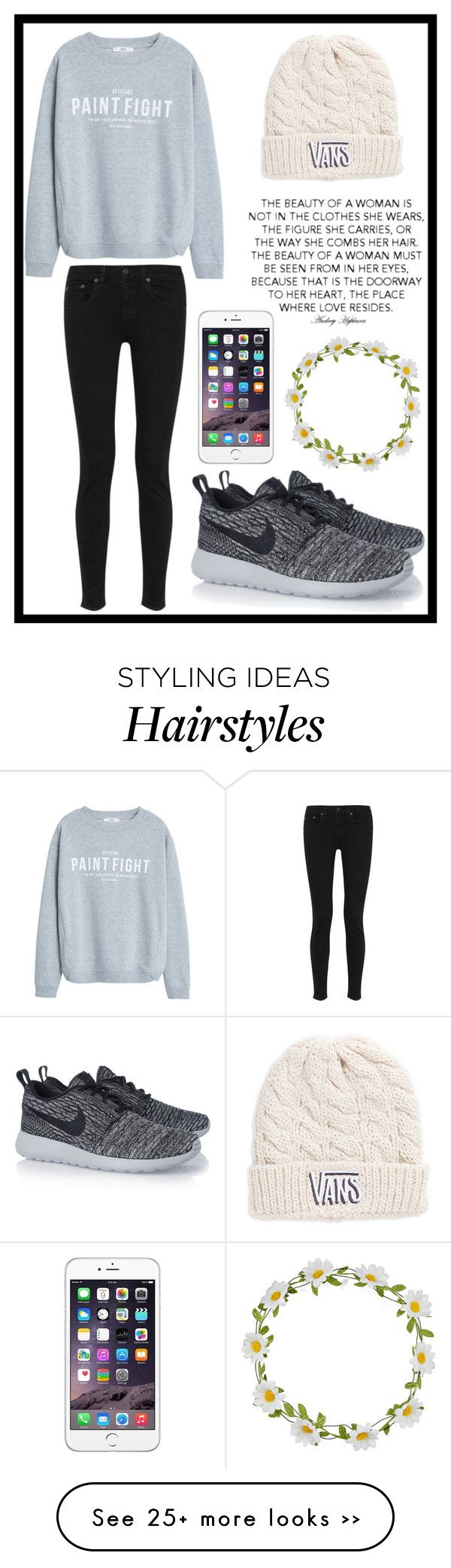 """""""#196 casual look"""" by xjet1998x on Polyvore featuring MANGO, rag & bone, NIKE, Carole and Vans"""