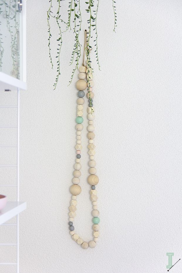 IDA wooden beads garlands. DIY and save. Visit www.fizzypops.com for wood beads and supplies.