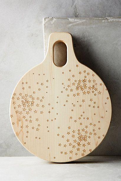 Falling Stars Cutting Board #anthropologie