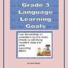 Grade 3 Language Learning Goals Posters for the Ontario Language Curriculum.  This packet includes all of the Grade 3 Language Learning Goals you a...