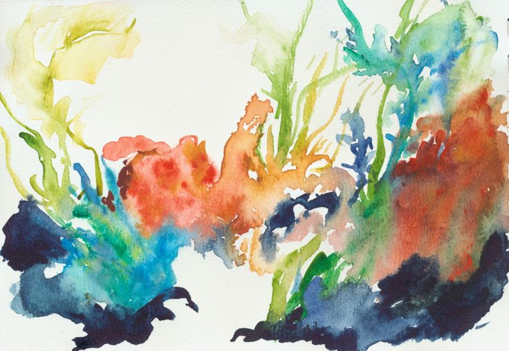 Coral reef. Playing with the watercolors. | Daily drawing ...