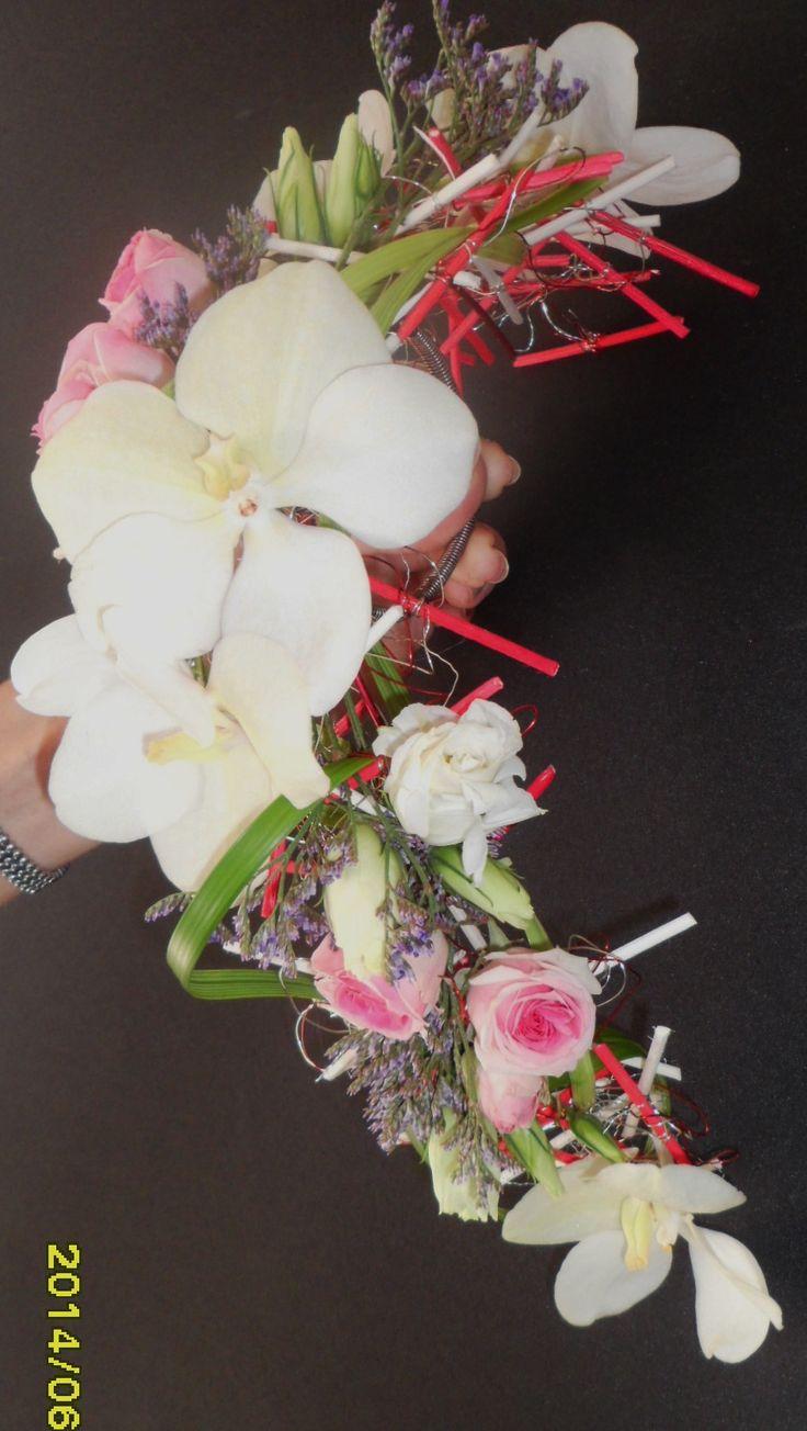 bouquet de mariée  sur structure en mikado ....photo 1