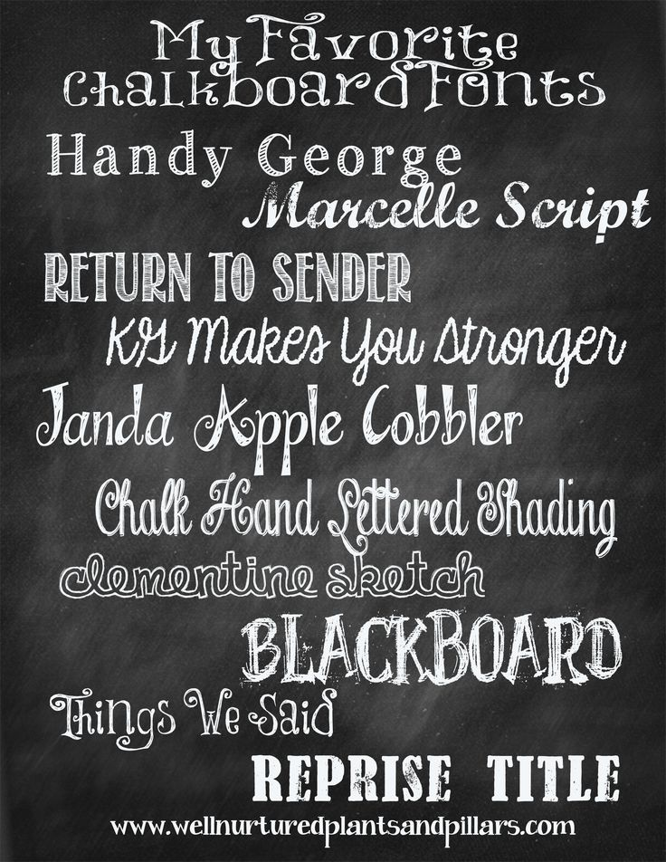 Collection of FREE chalkboard fonts