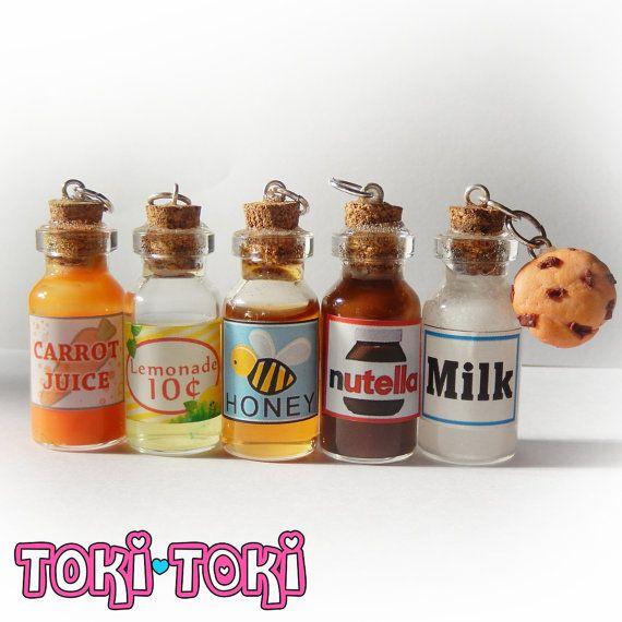 Glass Bottle Necklace Potion Bottle Miniature by MadeByTokiToki