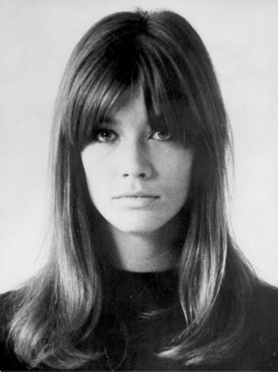 Françoise Hardy's amazing hair was her best fashion contribution. The girl has killer bangs