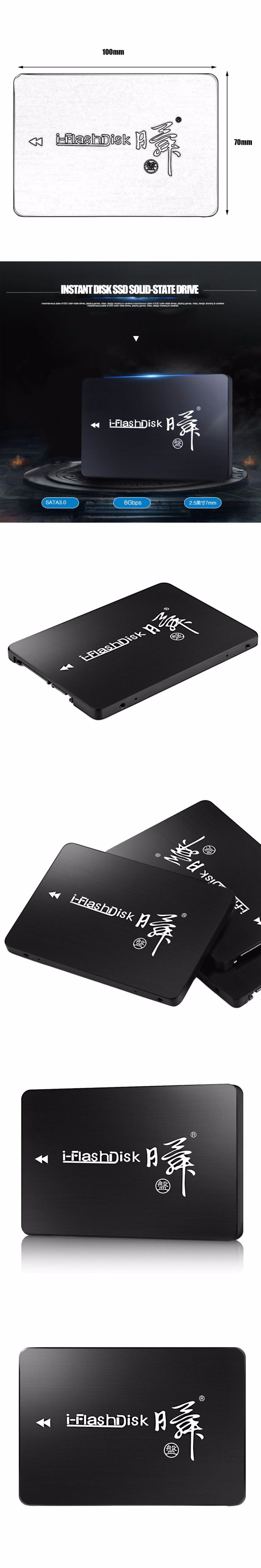 I-Flash Disk 120GB 2.5-Inch SSD SATA3 6GB/S High-Speed Transmission Without Cache Internal Hard Drive Light Anti Shock For pc