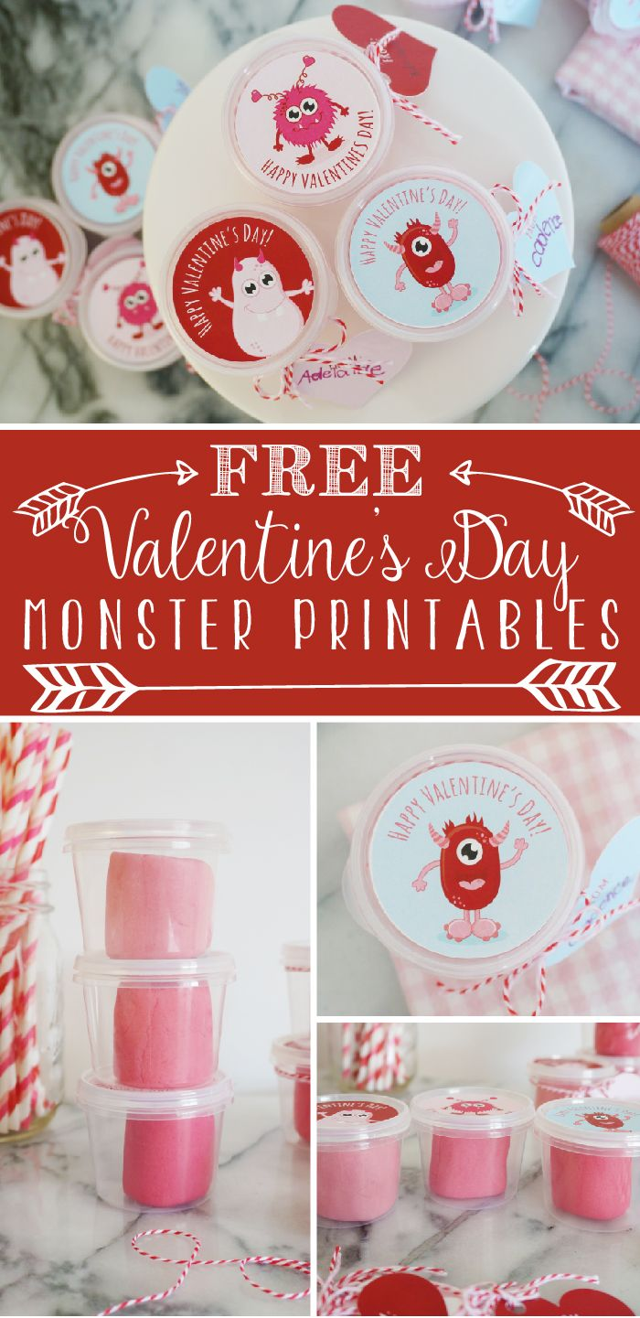 DIY Playdough Valentine With Free Printable