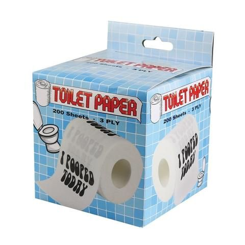 I Pooped Today Toilet Paper Roll - The Hippie House