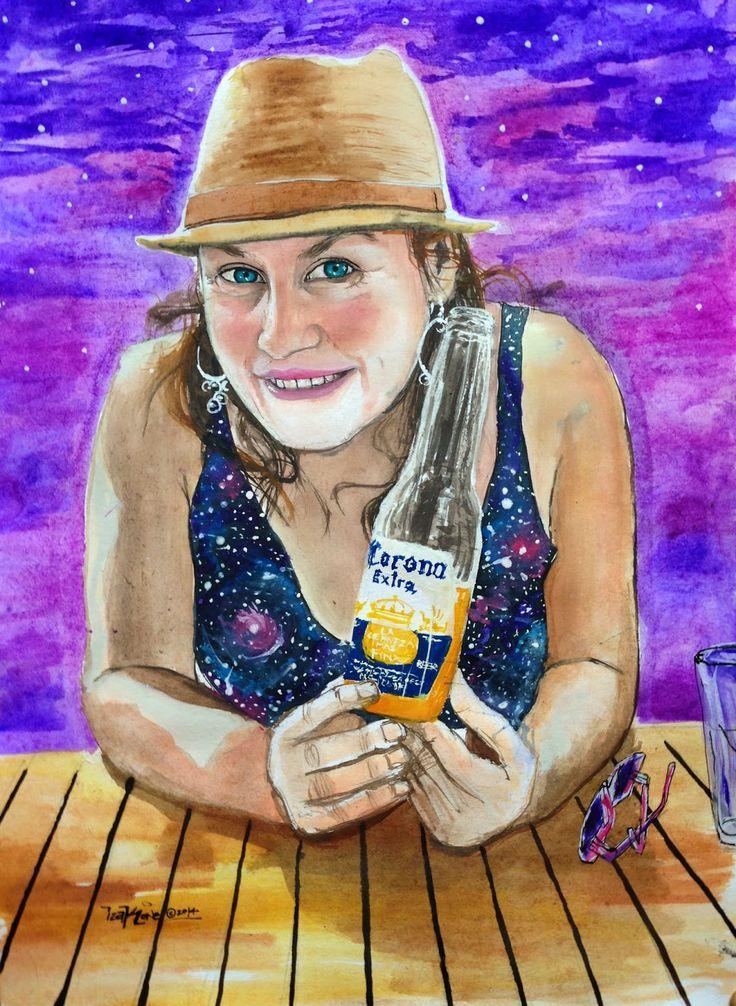 Anne by izak one, watercolor, graffiti, chile, artist, antofagasta, izak, street art