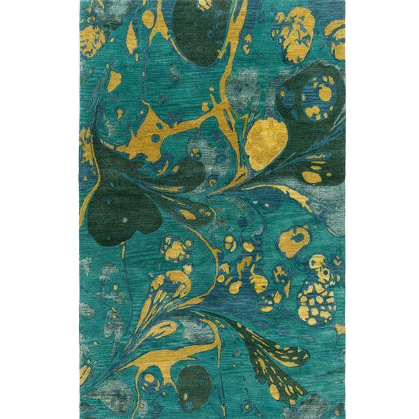 Hand Tufted Alia Abstract New Zealand Wool Rug 5 X 8