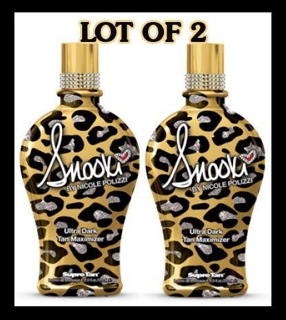 LOT of 2 Supre Snooki Ultra Dark Tan Maximizer Tanning Lotion 12 Oz. New for 2012 by Supre. $51.50. Ultra Dark Tan Maximizer. Bronzer Its all about attitude and style when you use Snookis Ultra Dark Tan Maximizer. Designed for those who want to unleash their inner Guido/Guidette, this advanced formula boosts up the tanning process for dramatically dark results. Enriched with vitamins and skin conditioning extracts your skin will feel amazingly soft, smooth and ready to party. *...