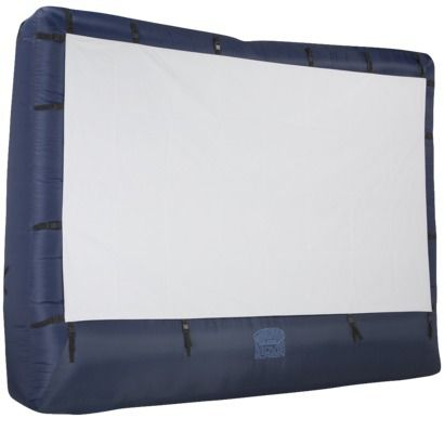Want this for my backyard!  Airblown Inflatable Outdoor Movie Screen with Storage Bag
