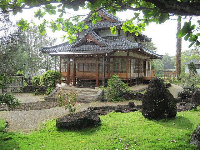 Japanese tea house tenri cultural center honolulu for Japanese garden house