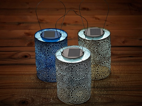 Solar powered lanterns in Tyvek made to look like tins. Eeep! My favouritest of all. $20  I would like to make this for candles