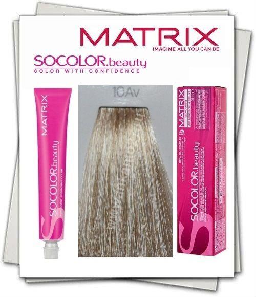 Matrix SOCOLOR beauty Краска для волос 10 Av очень-очень светлый блондин…
